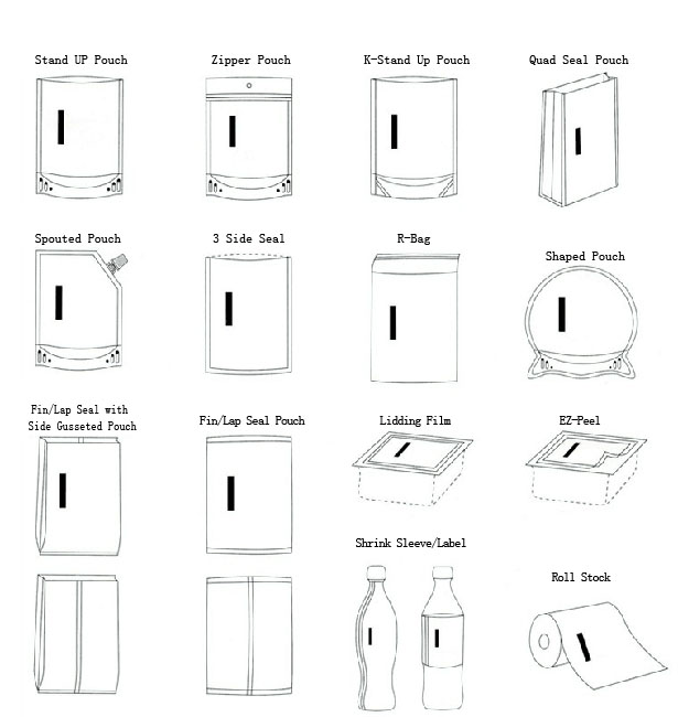 Popular Fashion Design Pet/Al/PE Aluminum Foil Facial Mask Bag