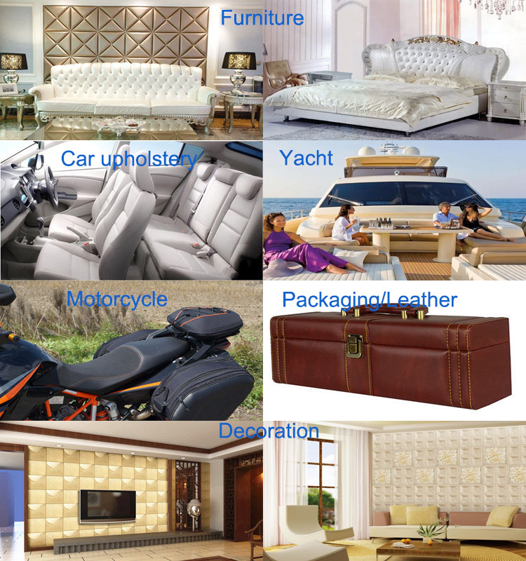 Eco-Friendly Embossed PVC Artificial Leather for Sofa (868#)