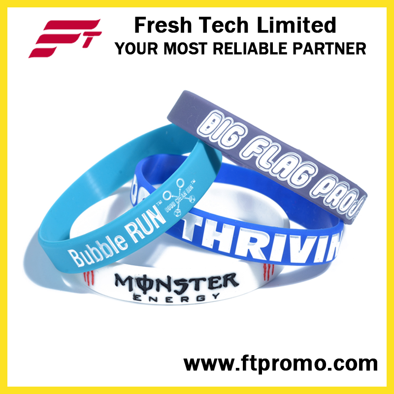 Professional OEM Promotional Gift Silicone Wristband