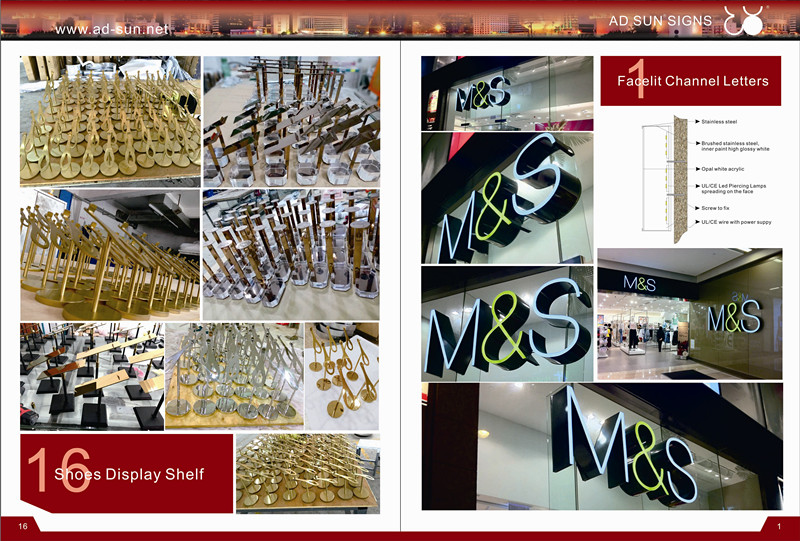 Non-Illuminated 3D Brushed Stainless Steel Number or Letter Sign