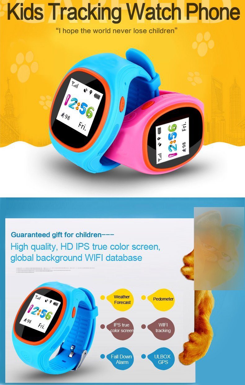 New Original Kids Gifts GPS/GSM/WiFi Anti Lost Tracker Kids/Children Smart Watch with Sos Support GSM Phone Mobile Phone