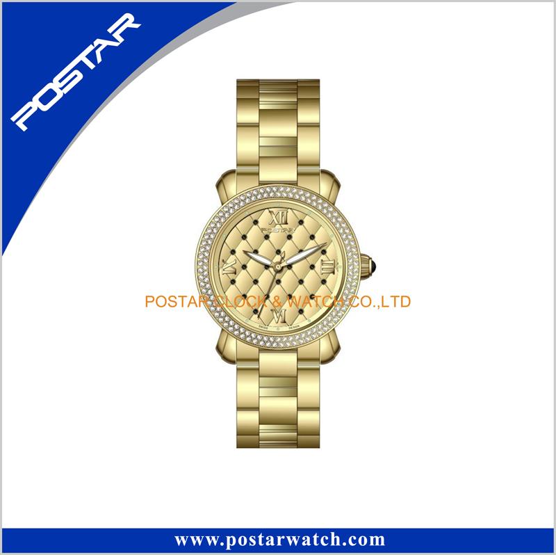 Fashion Stainless Steel Geneva Diamond Quartz Wrist Lady Watch Women Watch