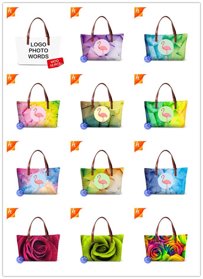 Bolsa Feminina Zipper Shoulder Handbag Custom Gifts Art Tote Bag