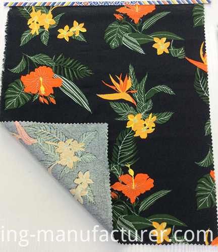 Floral Printing Linen/ Cotton Blended Fabric for Garment/ Home Textiles