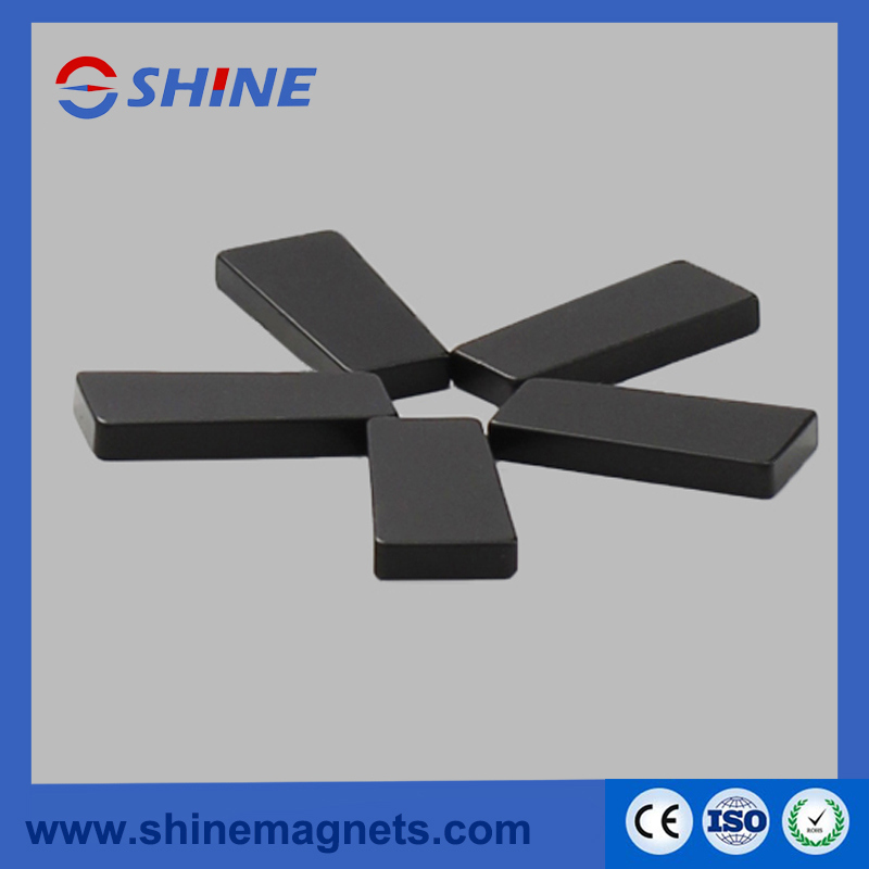 Rare Earth NdFeB Trapezoidal Shaped Magnet with Black Epoxy Plated