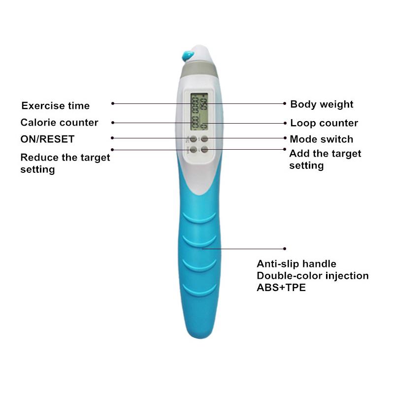 Promotion Adjustable Digital Calorie Jump Speed Rope Crossfit Skipping Rope