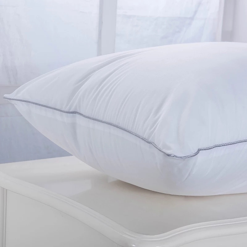 100% Cotton Fabric Microfiber Filled Pillow for Queen Bed Size