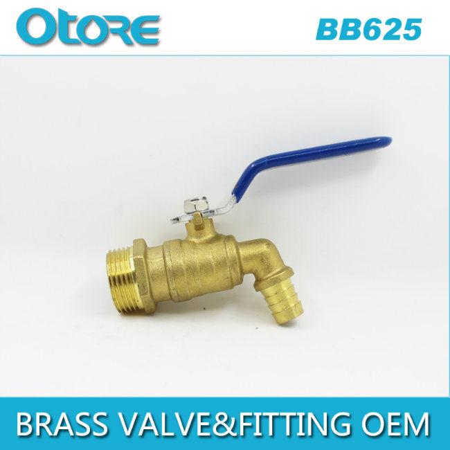 Brass Bibcock Hose Bib Patio Lawn Garden Faucet 1-Inch Lever Handle