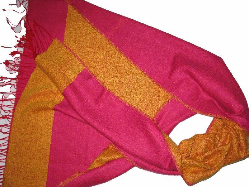 50% Cashmere 50% Wool Reversible Shawl