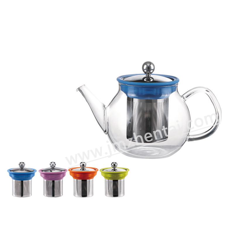 Wholesale Christmas Gift Borosilicate Glass Teapot