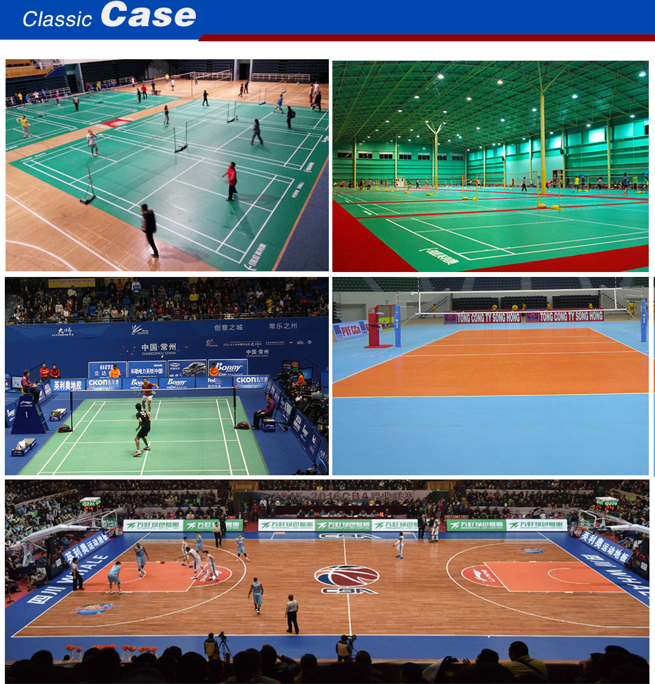 Volleyball sports flooring