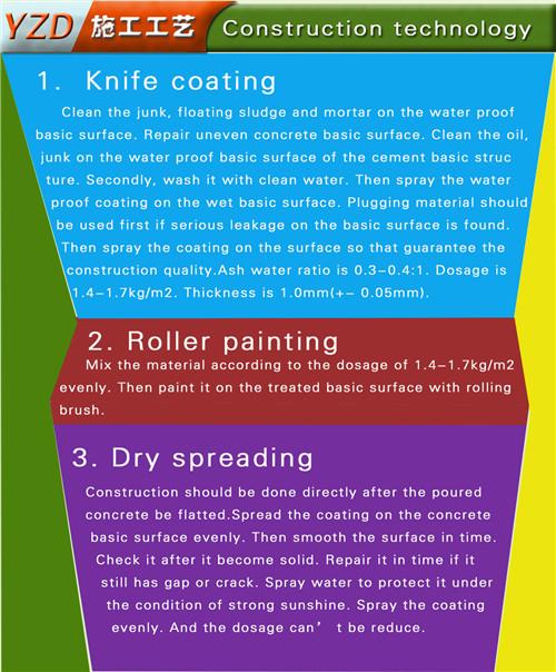 Waterproofing Material Concrete Admixture Cement Waterproofing Material