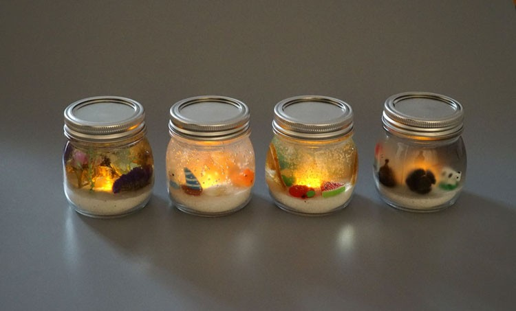 Glass Jar Led Candle