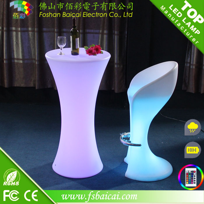 Round LED Bar Table Hotel Furniture for Event