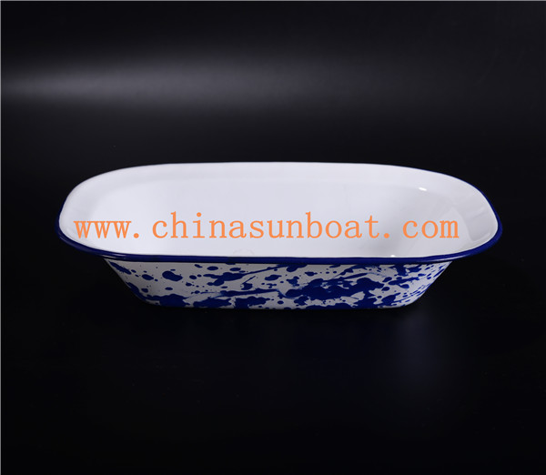 Sunboat Enamel Ceramic Dinnerware Plate/ Food Tray Plate