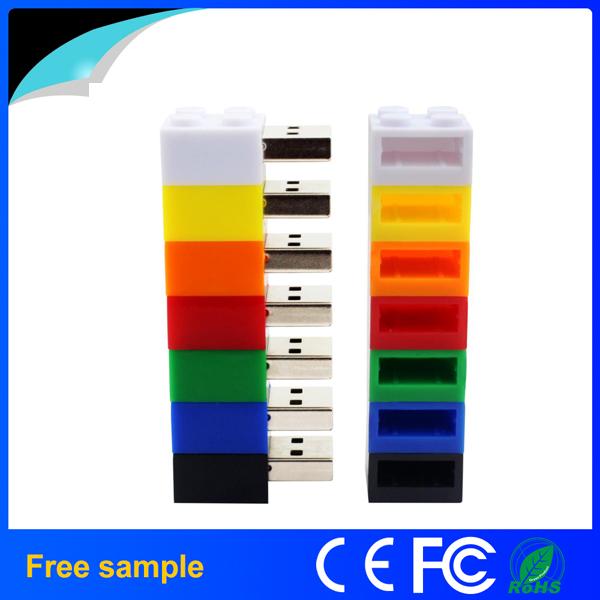 2016 China Manufacter PVC USB2.0 Building Block USB Flash Drive