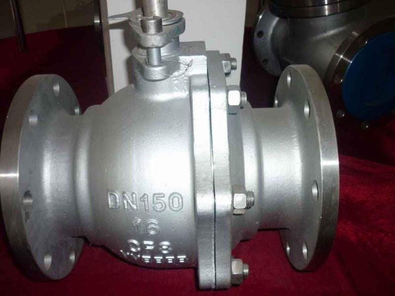 2PC Stainless Steel Flange Full Bore Floating Ball Valve (Q41F)