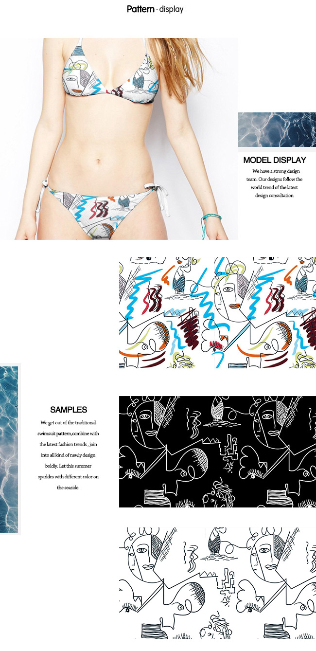 Interesting Cartoon Pattern Printed Knit Fabric for Swimwear and Jersey Gament