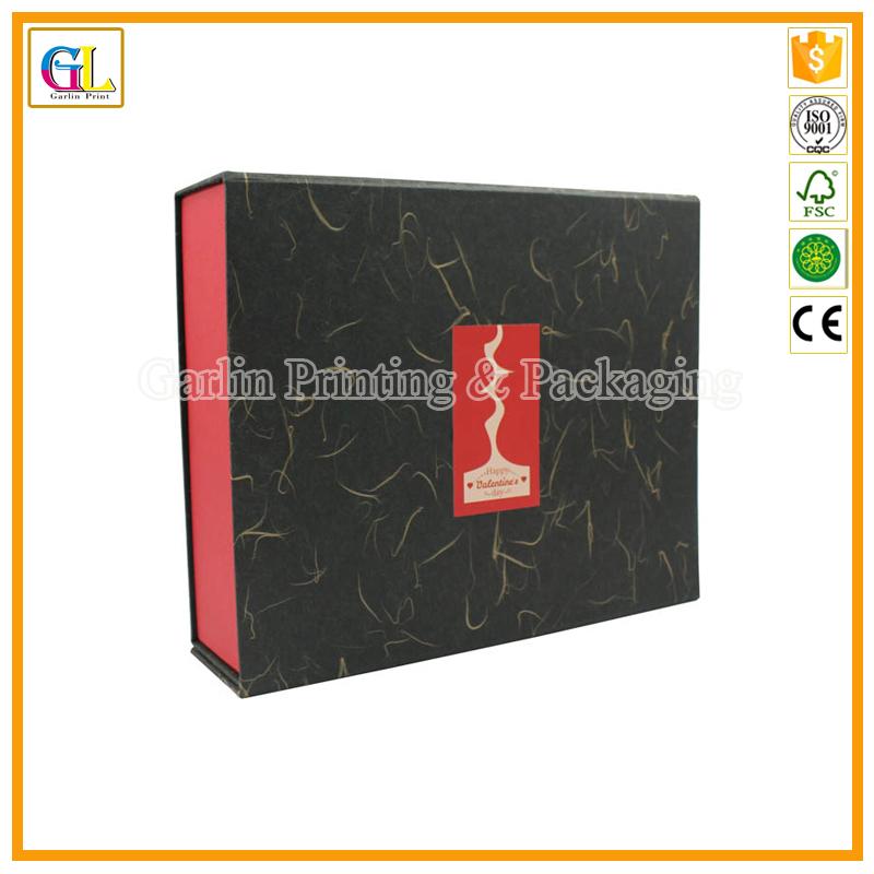 Black Foldable Magnet Gift Box