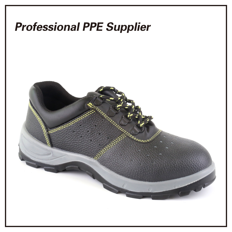 Genuine Leather Low Cut Breathable Summer Safety Shoe