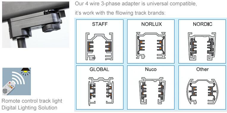 30W High CRI95 Clothing Store LED Pendant Track Lighting