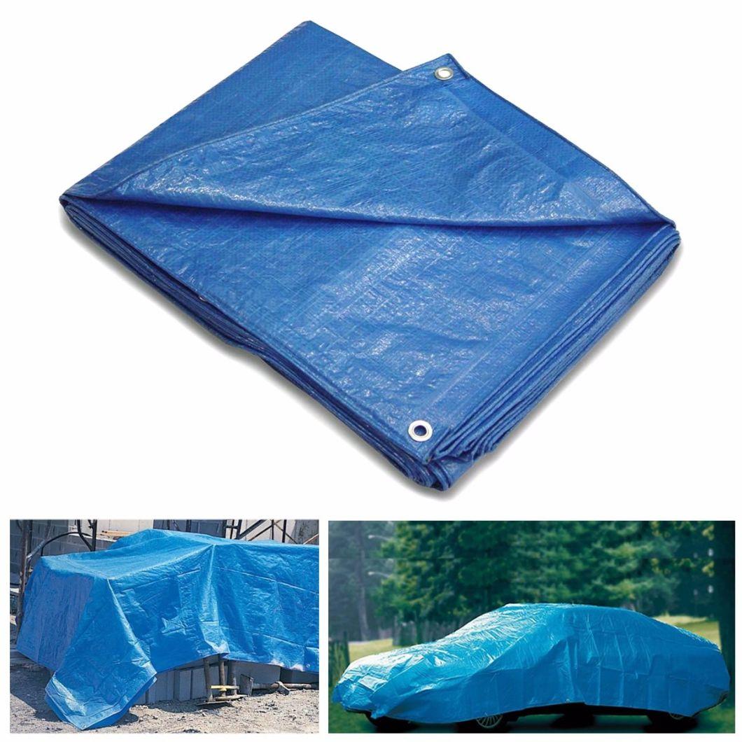 4mx6m Blue Color Reinforced Heavy Duty PE Fabric Tarpaulin