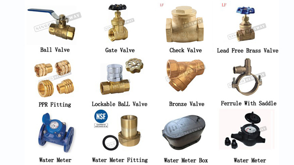 Good Market Brass Lockable Ball Valve for Water Meter with Magnetic Lock
