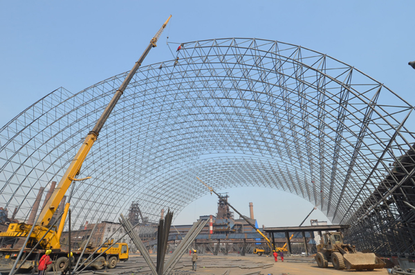 Steel Space Framing Coal Storage for Thermal Power Plant