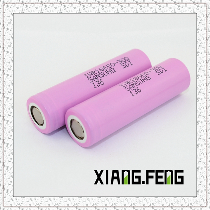 Hot Sell 18650 Battery 3000mAh for Samsung 30q Rechargeable for E Cig