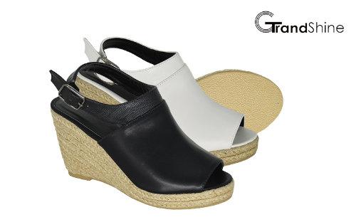 Women's Slingback PU Espadrille Wedge Sandals