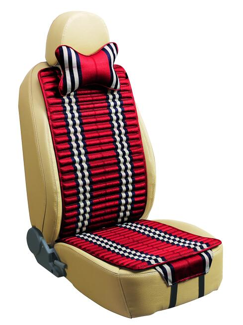 Linen and Velvet Car Seat Cover Double Sides Use-Red