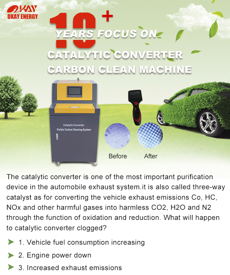 New Clog Catalytic Converter Carbon Cleaning Machine Catalytic Converter Cleaner