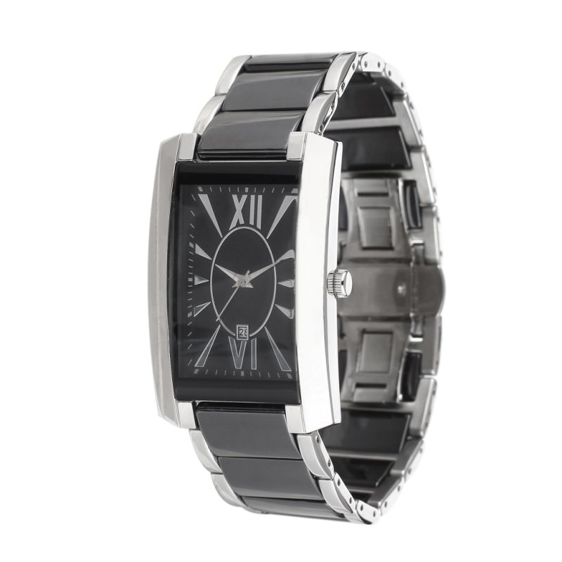 2017 New Design Fashion Popular Stainless Steelman Watch. OEM, Stainless Steel, Square Case.
