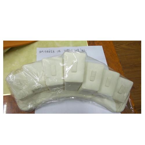 White Customized Double Ring Finger Shape Ring Holder Displays (R2-FGR-W)