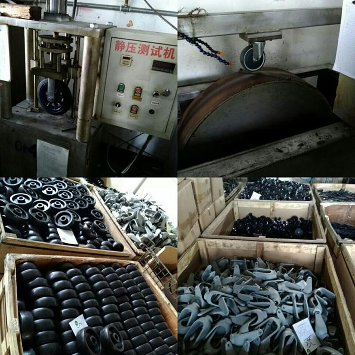Hand Trolley 125mm Medium Duty Fixed Casters Wheels