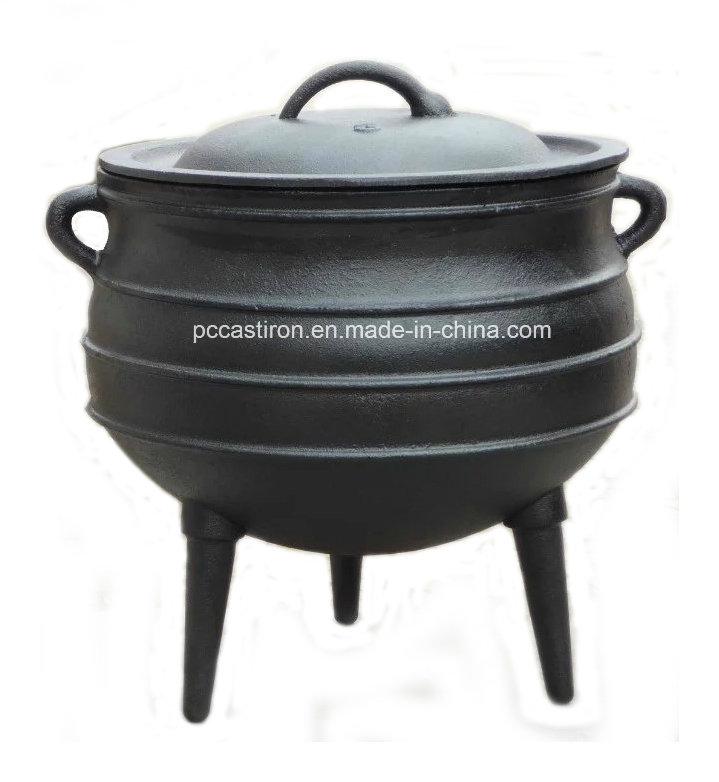 #8 Preseasoned Cast Iron Potjie Pot with 3 Legs