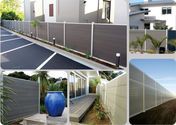 Australia Style UV Resistance Privacy Fence Composite Wood Fence