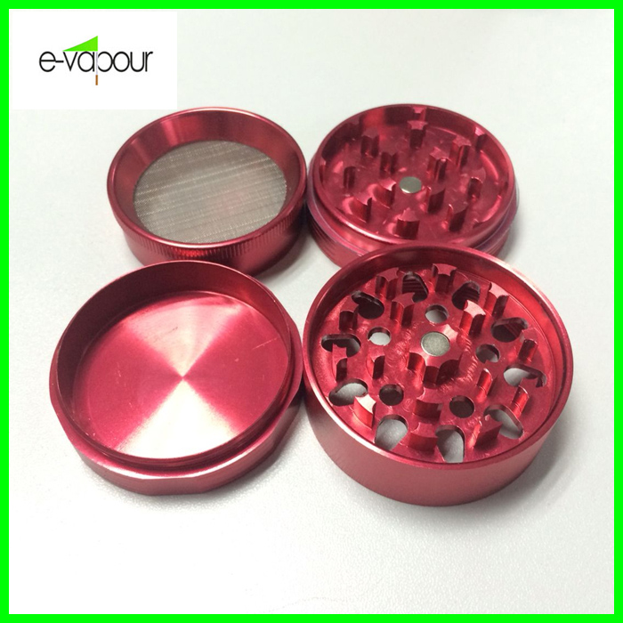 Acrylic 4 Parts Weed /Tobacco Herb Grinder, Different Size Aluminum Grinder