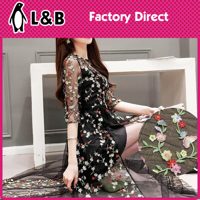 130cm Embroidered Birds Lace Fabric