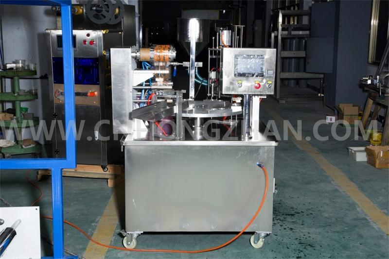 Hongzhan Kis900 Automatic Rotary Type Cup Filling and Sealing Machine for Juic or Coffee