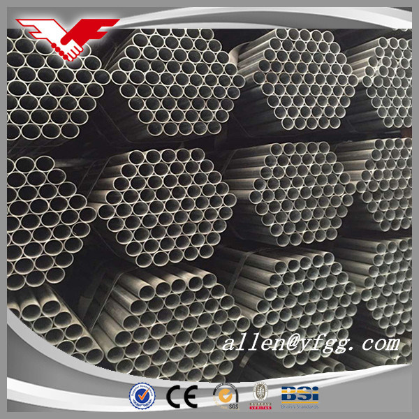Tianjin Manufactured Black Varnished ERW Carbon Steel Pipe