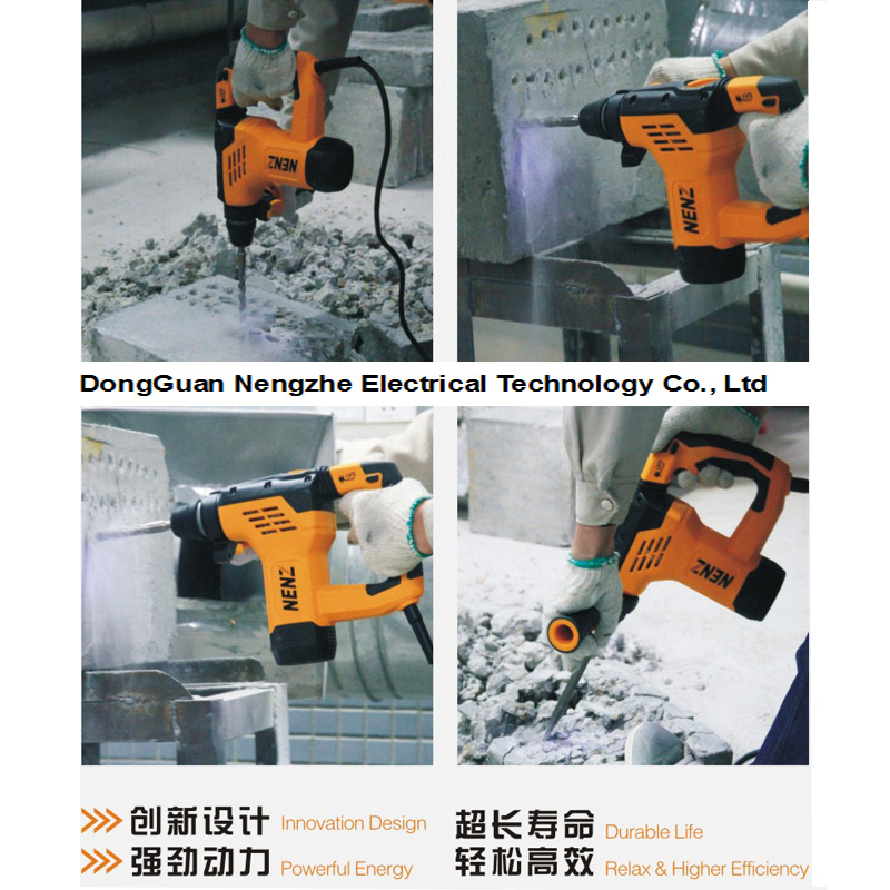 Electric Hammer Nenz Mini Rotary Hammer in Competitive Price (NZ60)