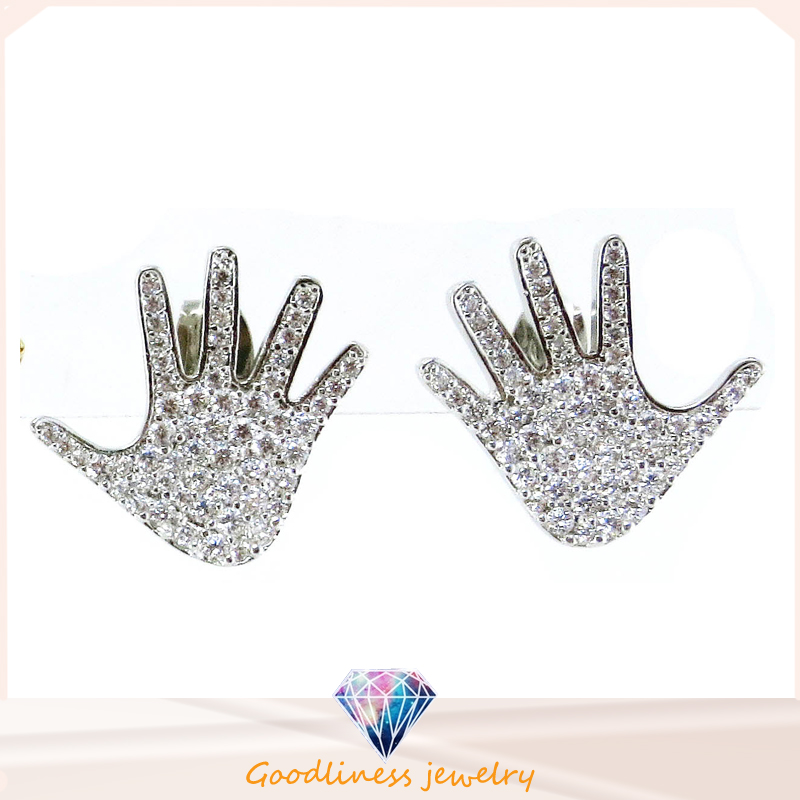 Hand Shape Earring for Lady China Wholesale Fashionjewelry 925 Sterling Silver Jewelry Earring (E6504)