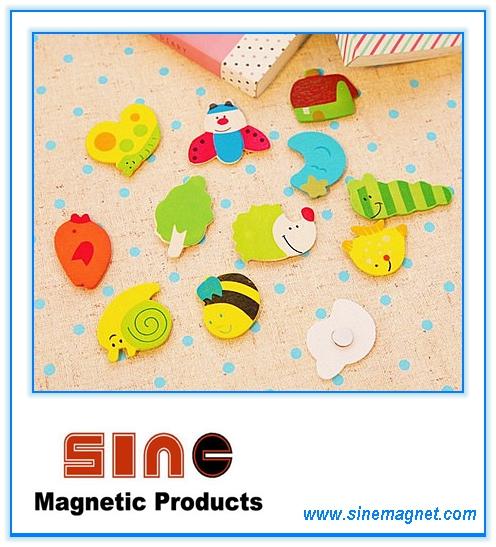 Painted Cute Wooden Cartoon Fridgemagnet/Educational Toys