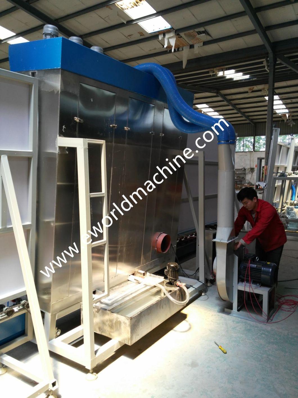 Flat Vertical Glass Washing Drying Machine Double Glass Washer