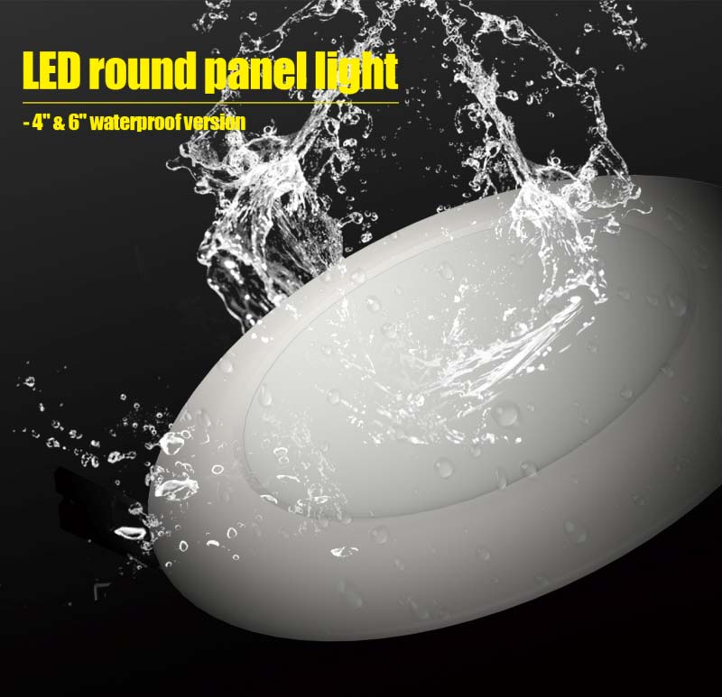 IP64 Waterproof Round Bathroom Light, LED Bathroom Ceiling Light with 3 Warranty Years
