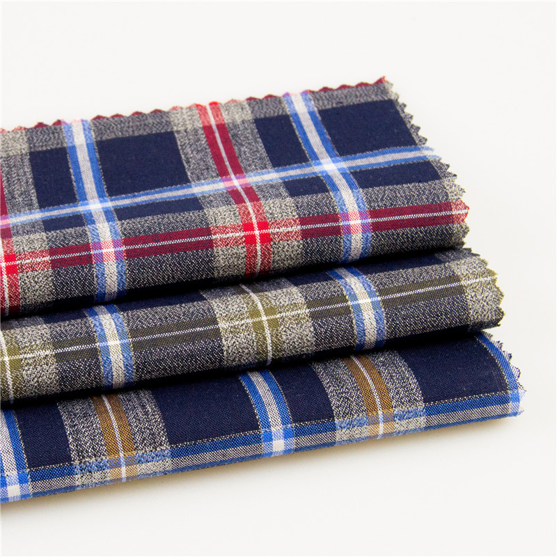 Yongteng plaid flannel fabric for man and lady