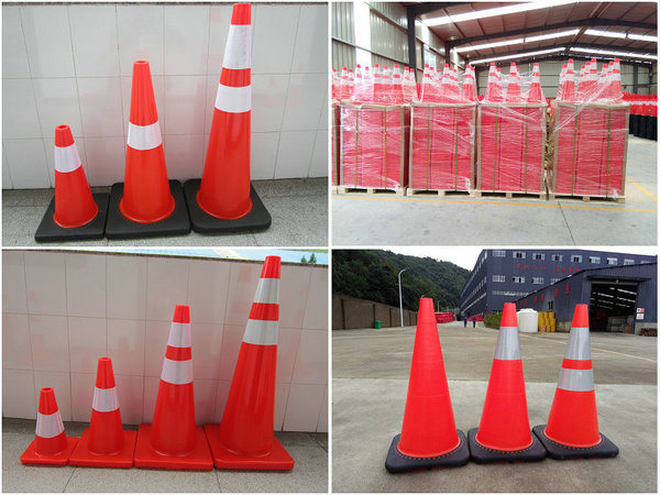 Gambia Flexible Soft Unbreakble Road Sign Traffic Sign PVC Road Traffic Safety Cone