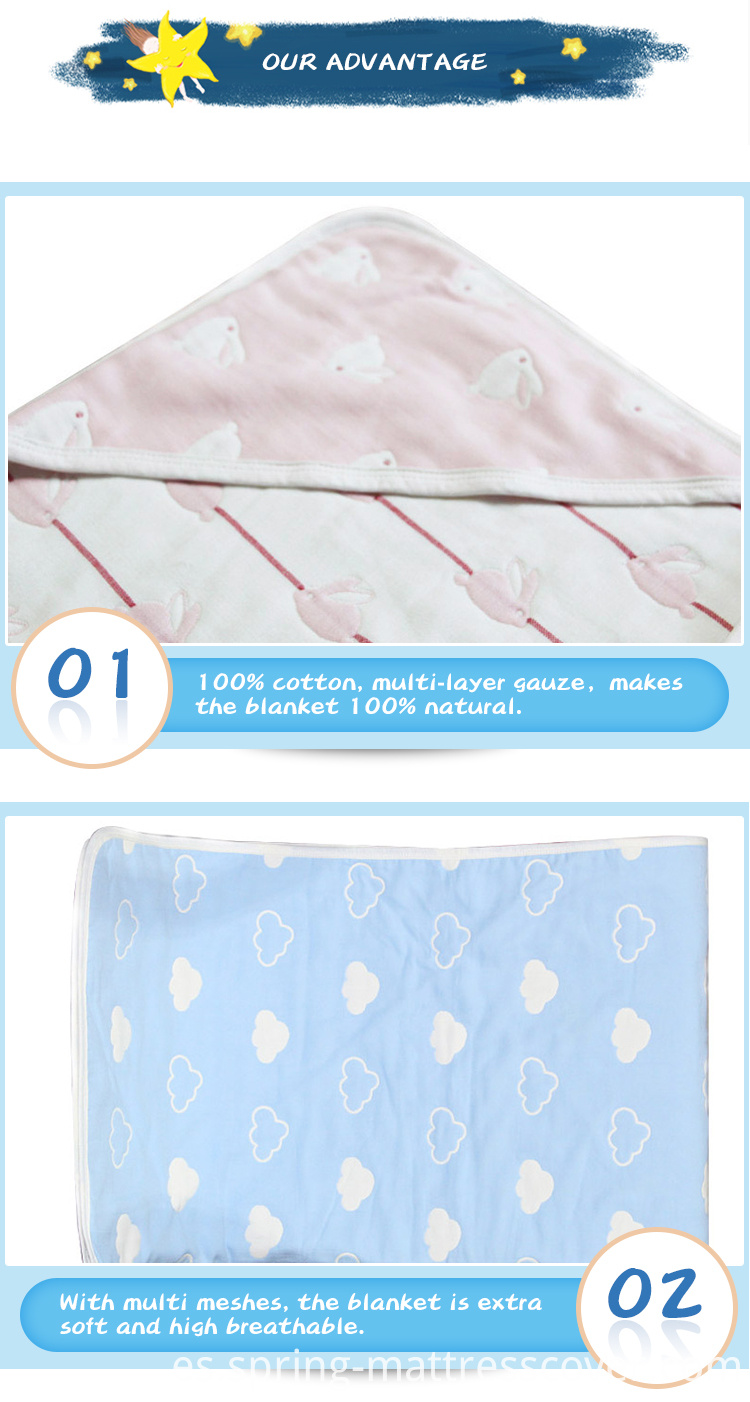 100% Cotton Multilayer Blanket