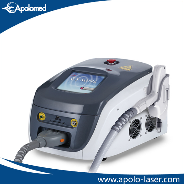 Most Popular Apolomed HS-220 1064nm and 532nm Q-Switched ND: YAG Laser Machine for Tattoo Removal